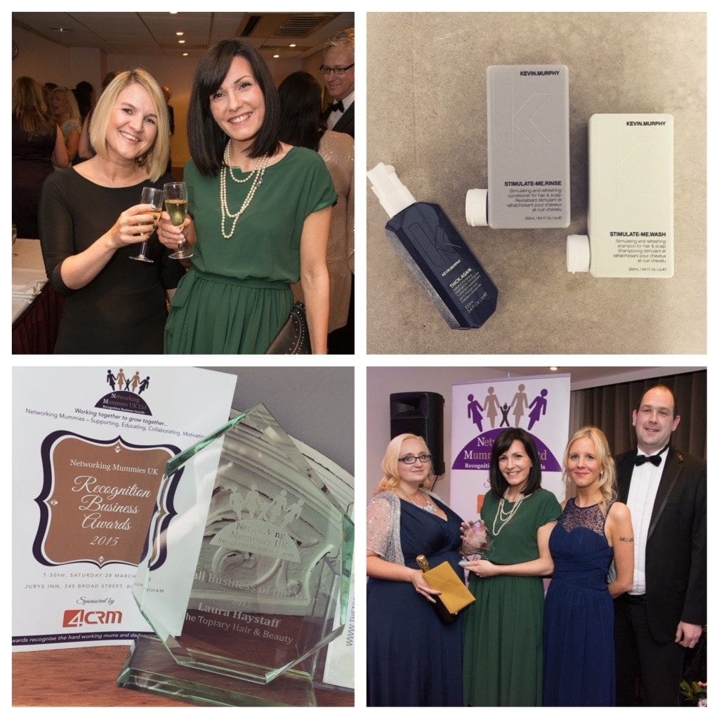 The Topiary Salon - Winner Small Business of the Year - Networking Mummies Business Awards